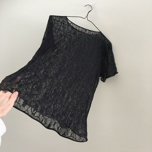 American apparel lace tee shirt size M/L